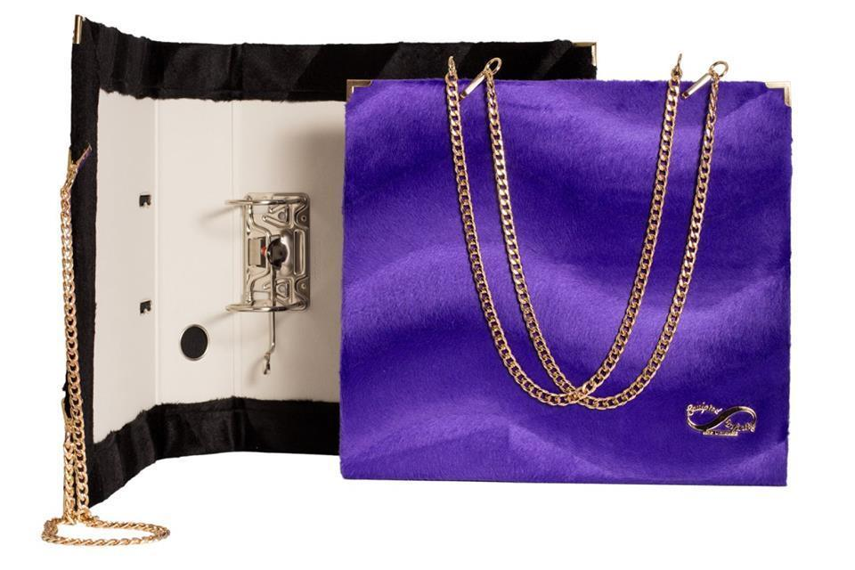Purple & Black Folder Bag